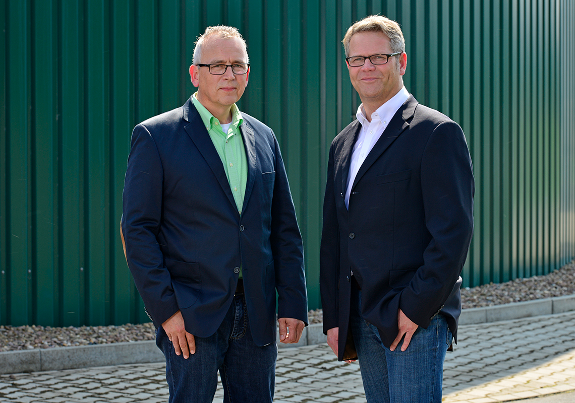 Stephan Stiens and Martin Brinkmann (Managing Directors of EnviTec Service)