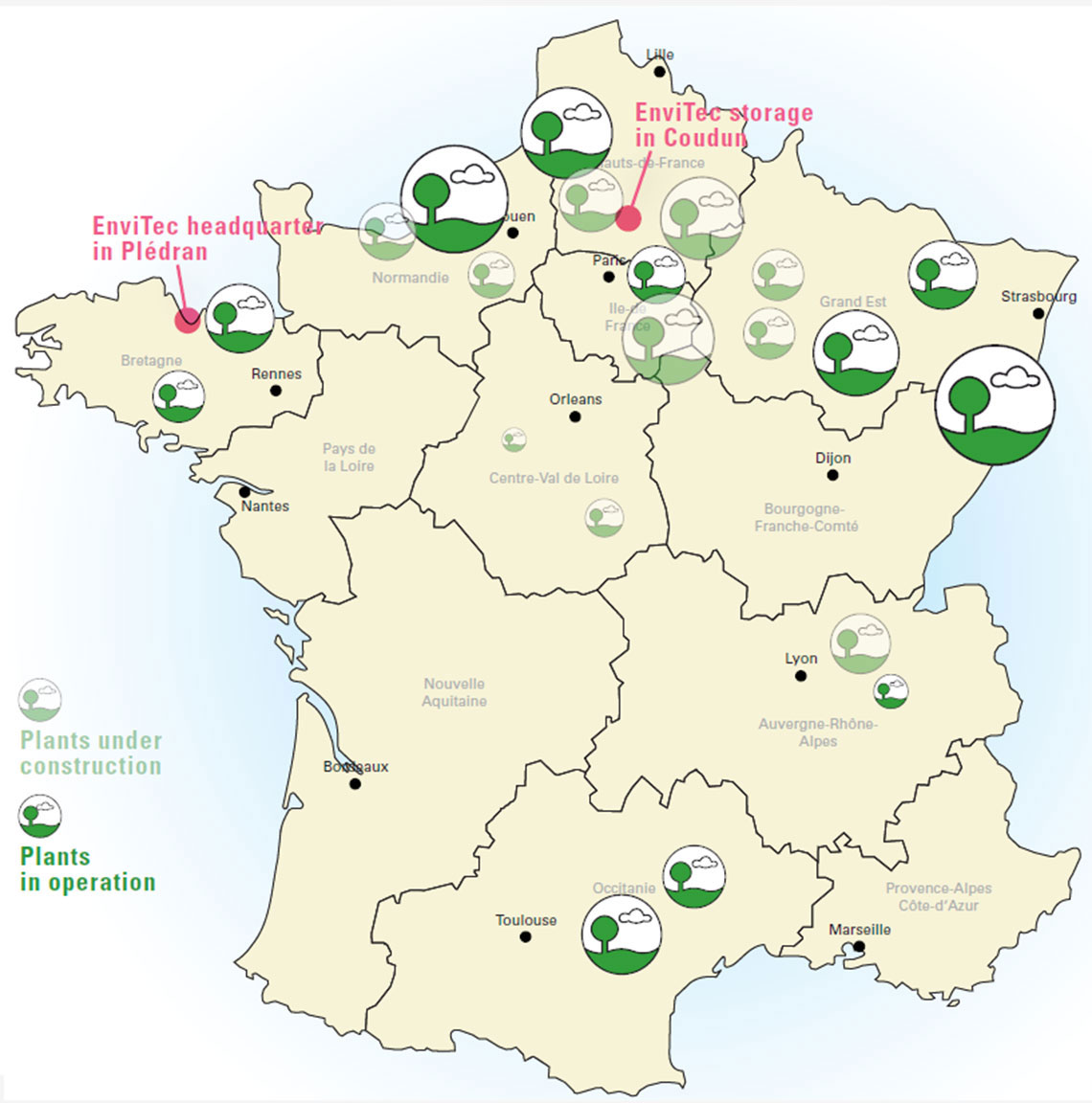 EnviTec projects in France