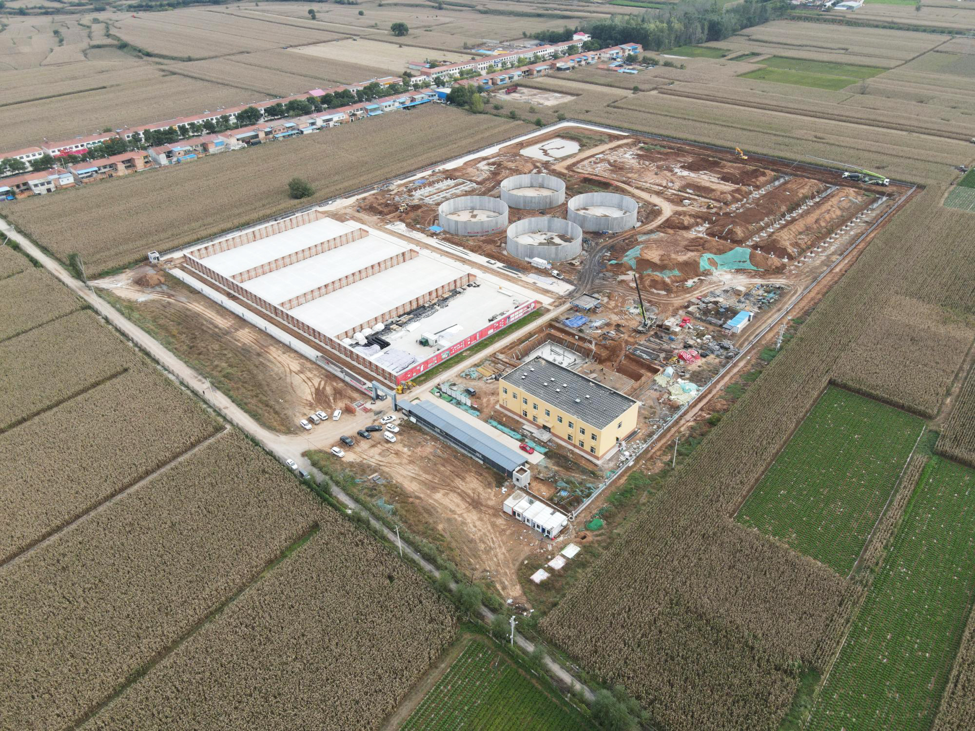 Construction work on the eighth EnviTec biogas plant in China in full progress
